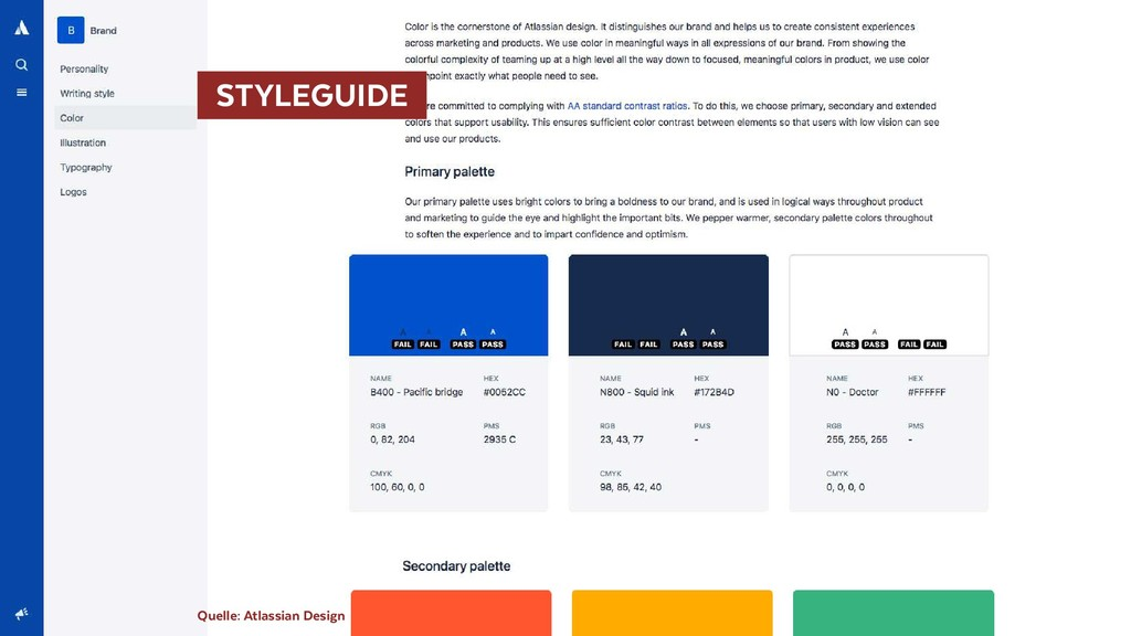 STYLEGUIDE  Quelle: Atlassian Design
