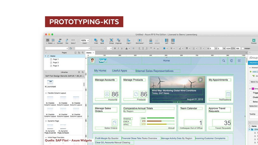PROTOTYPING-KITS  Quelle: SAP Fiori – Axure Wi...