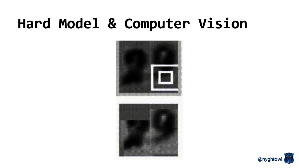 @nyghtowl Hard Model & Computer Vision