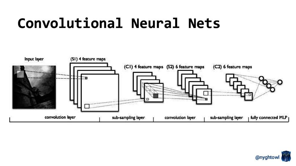 @nyghtowl Convolutional Neural Nets
