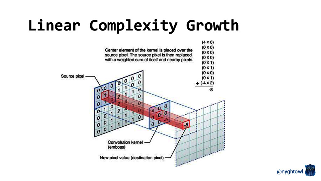@nyghtowl Linear Complexity Growth