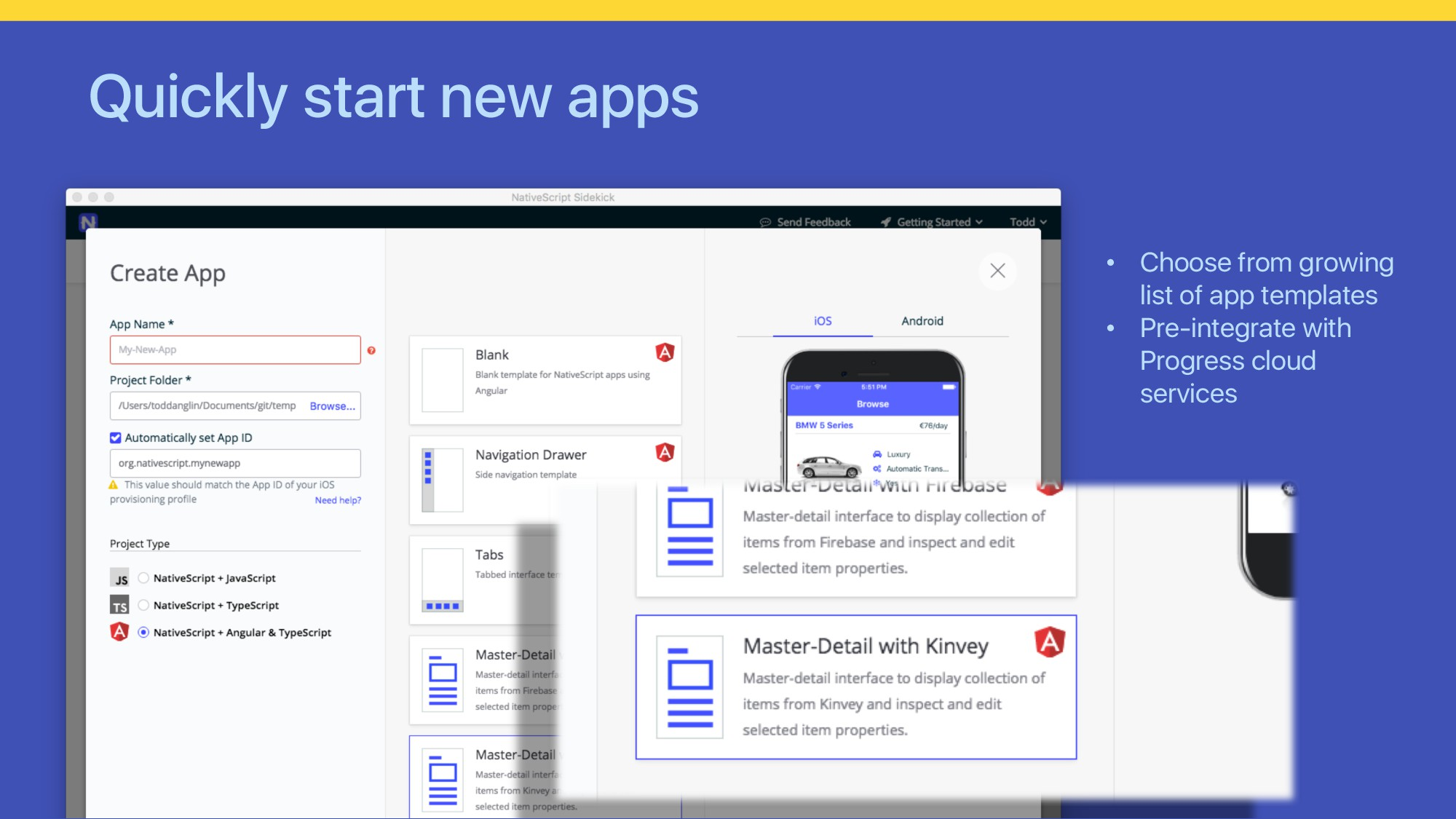 Quickly start new apps • Choose from growing li...