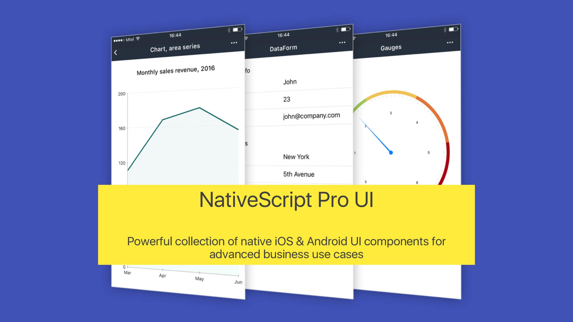 NativeScript Pro UI Powerful collection of nati...