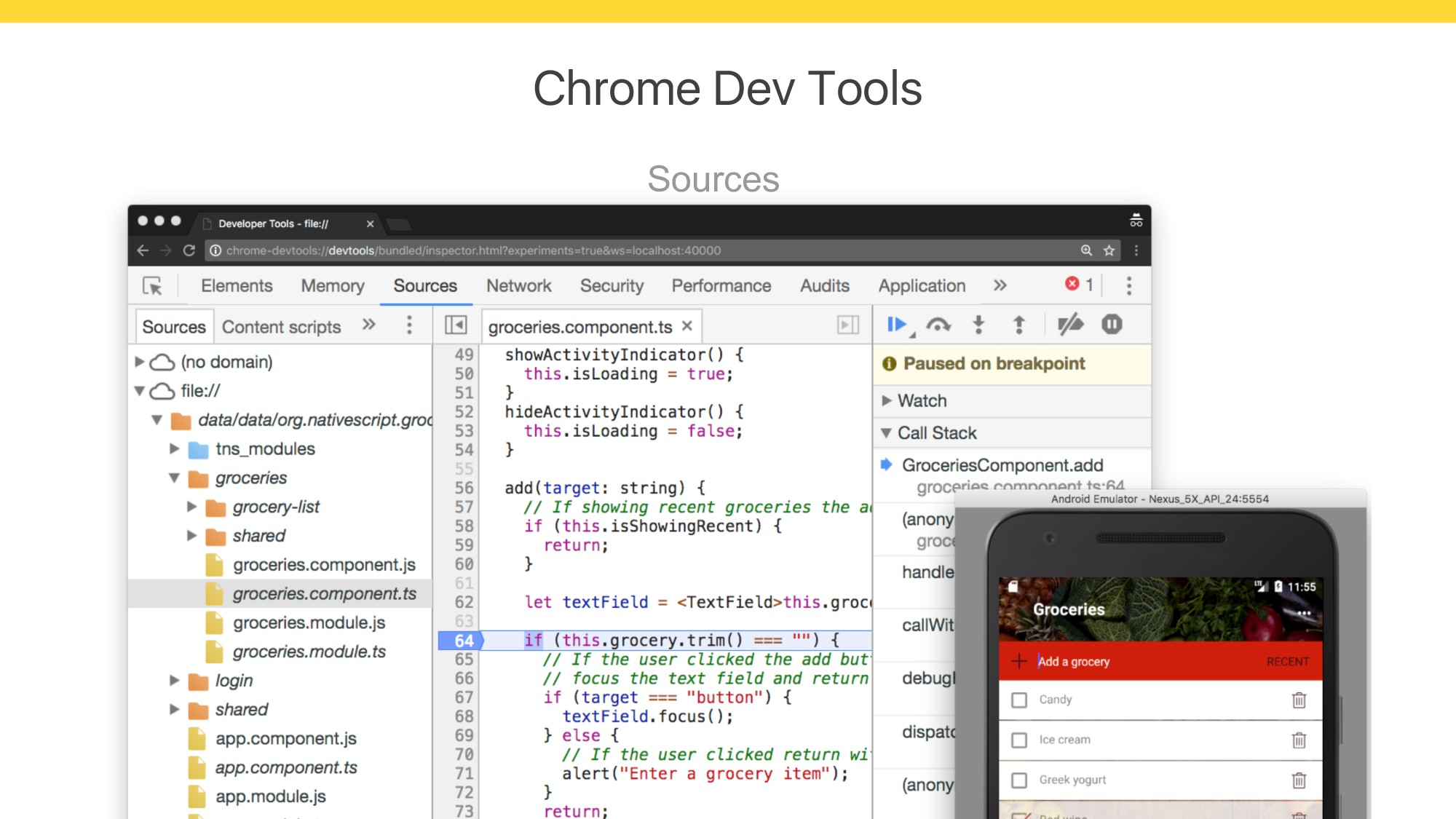 Chrome Dev Tools Sources