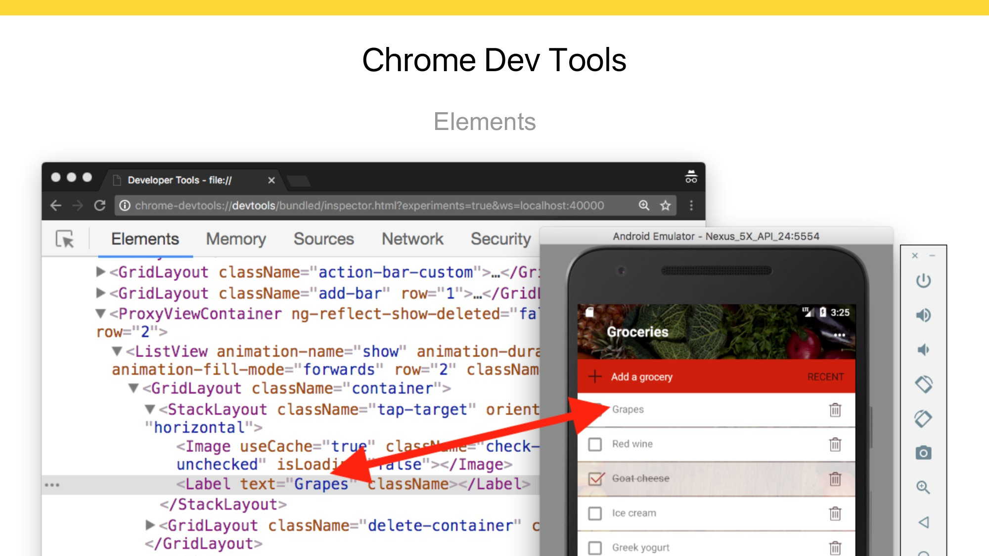 Chrome Dev Tools Elements