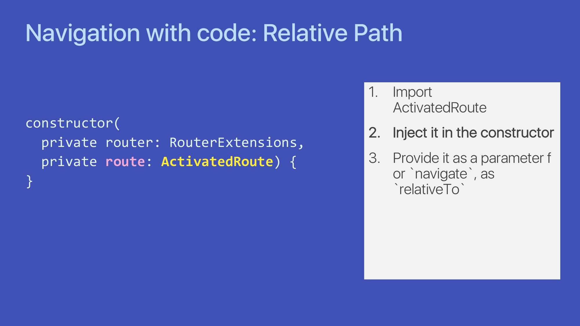 Navigation with code: Relative Path constructor...