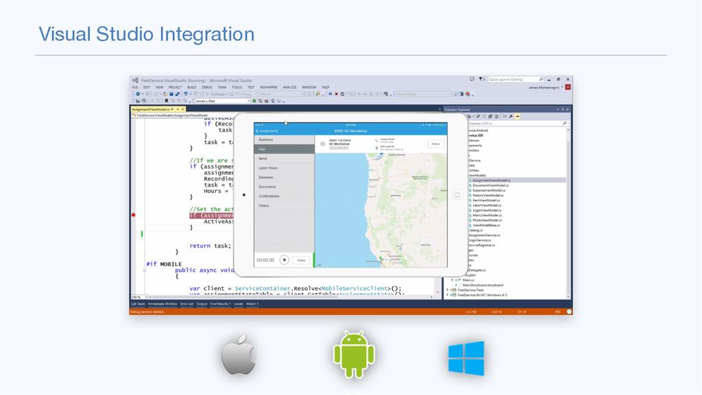 Visual Studio Integration