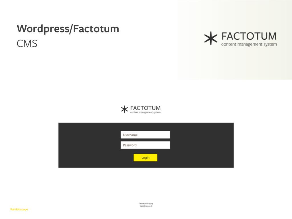 Kaleidoscope Wordpress/Factotum CMS