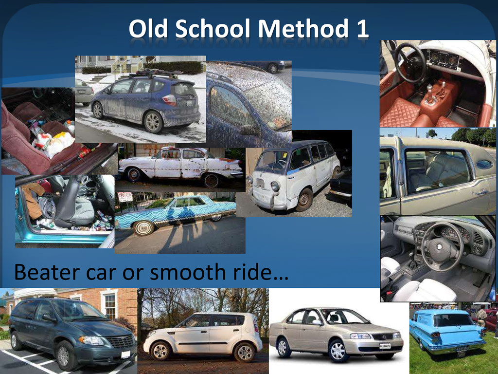 Old School Method 1 Beater car or smooth ride…