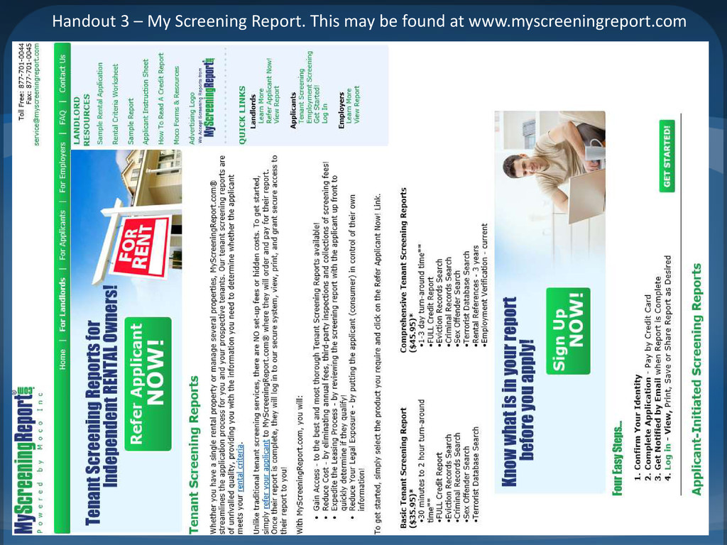 Handout 3 – My Screening Report. This may be fo...