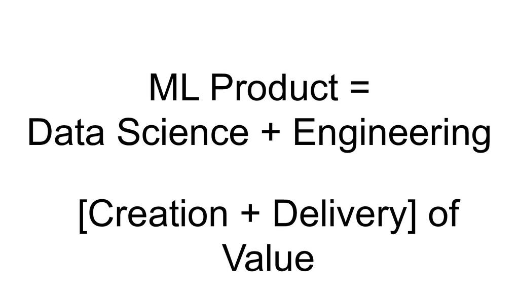 ML Product = Data Science + Engineering [Creati...