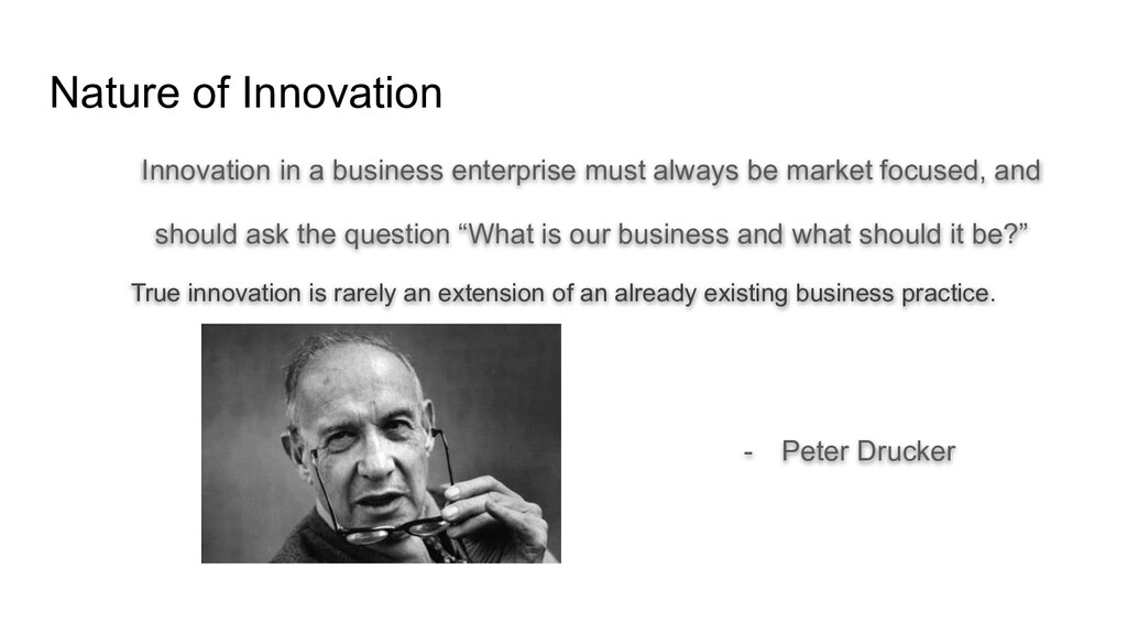Nature of Innovation Innovation in a business e...