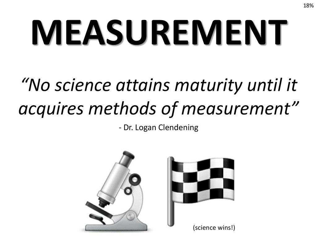 """No science attains maturity until it acquires ..."