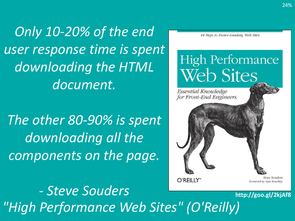 Only 10-20% of the end user response time is sp...