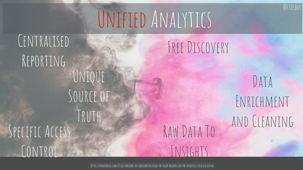 Unique Source of Truth Raw Data To Insights Spe...