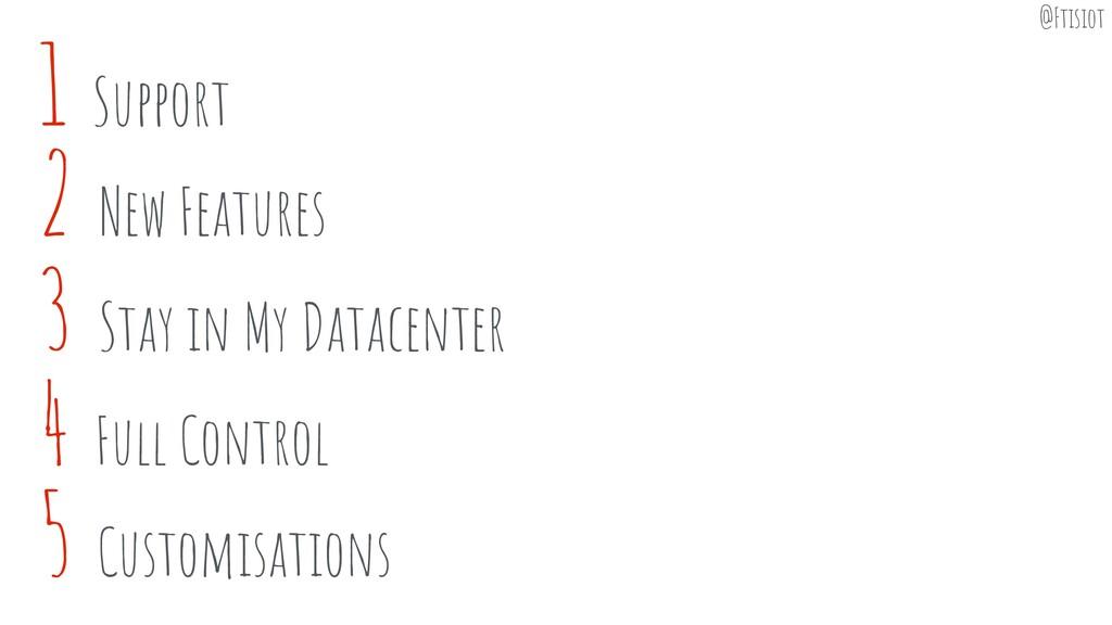 3 Stay in My Datacenter 4 Full Control 5 Custom...