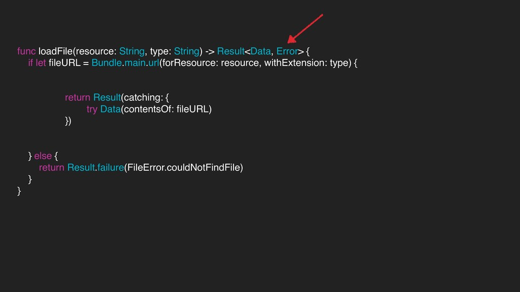 func loadFile(resource: String, type: String) -...