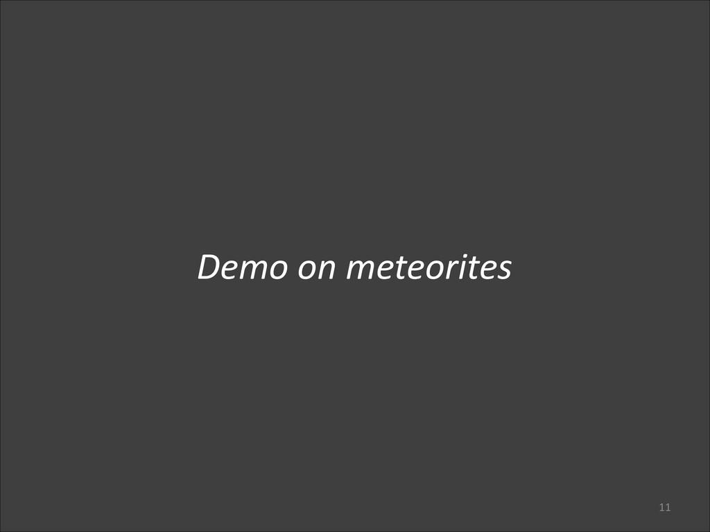 11 Demo on meteorites