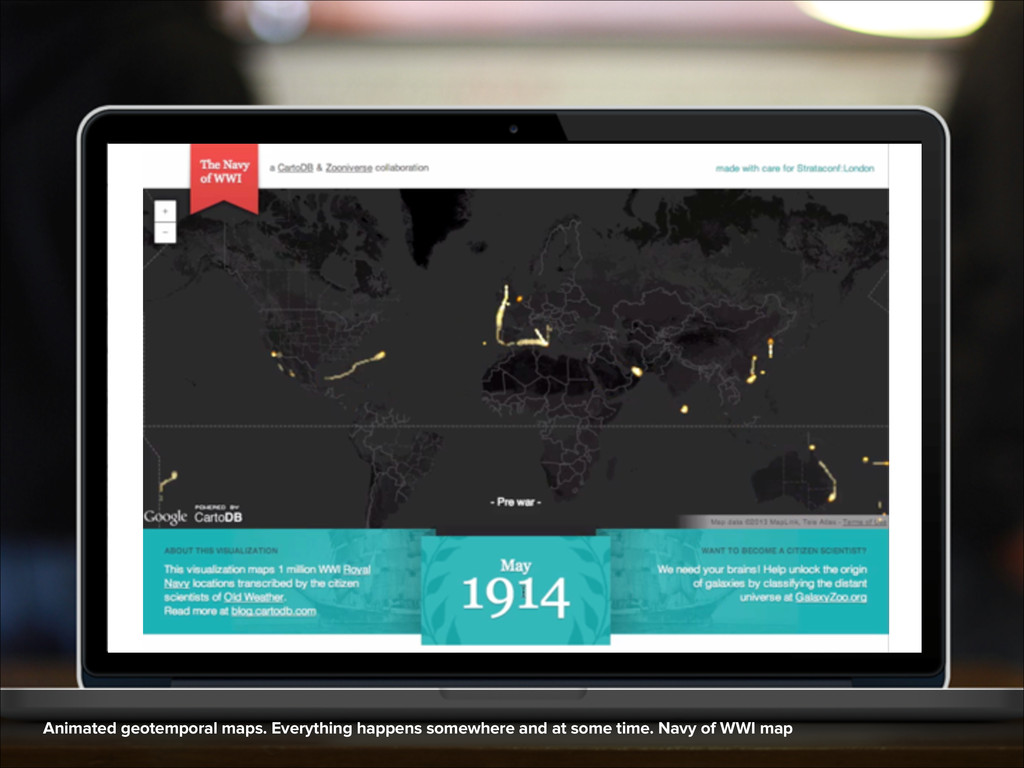 Animated geotemporal maps. Everything happens s...