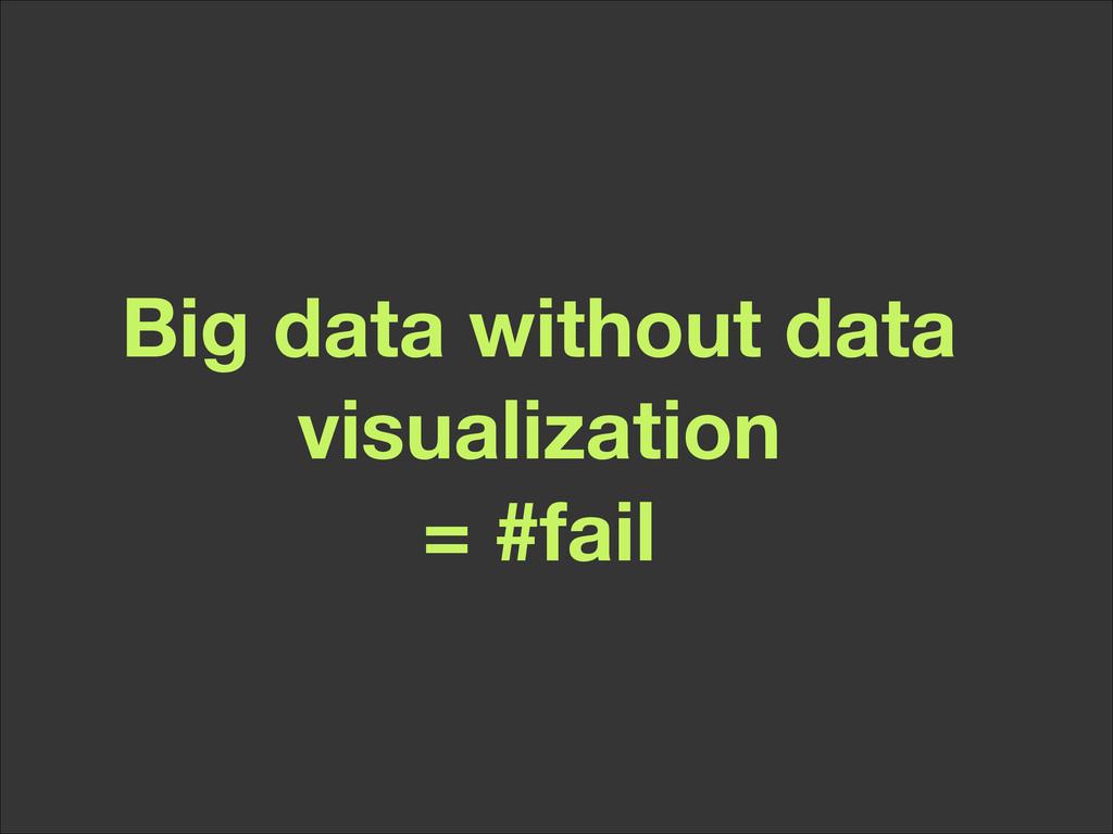 Big data without data visualization = #fail
