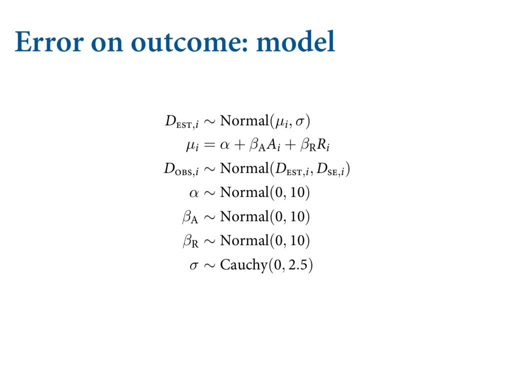 Error on outcome: model EJWPSDF SBUF HJWFO B L...