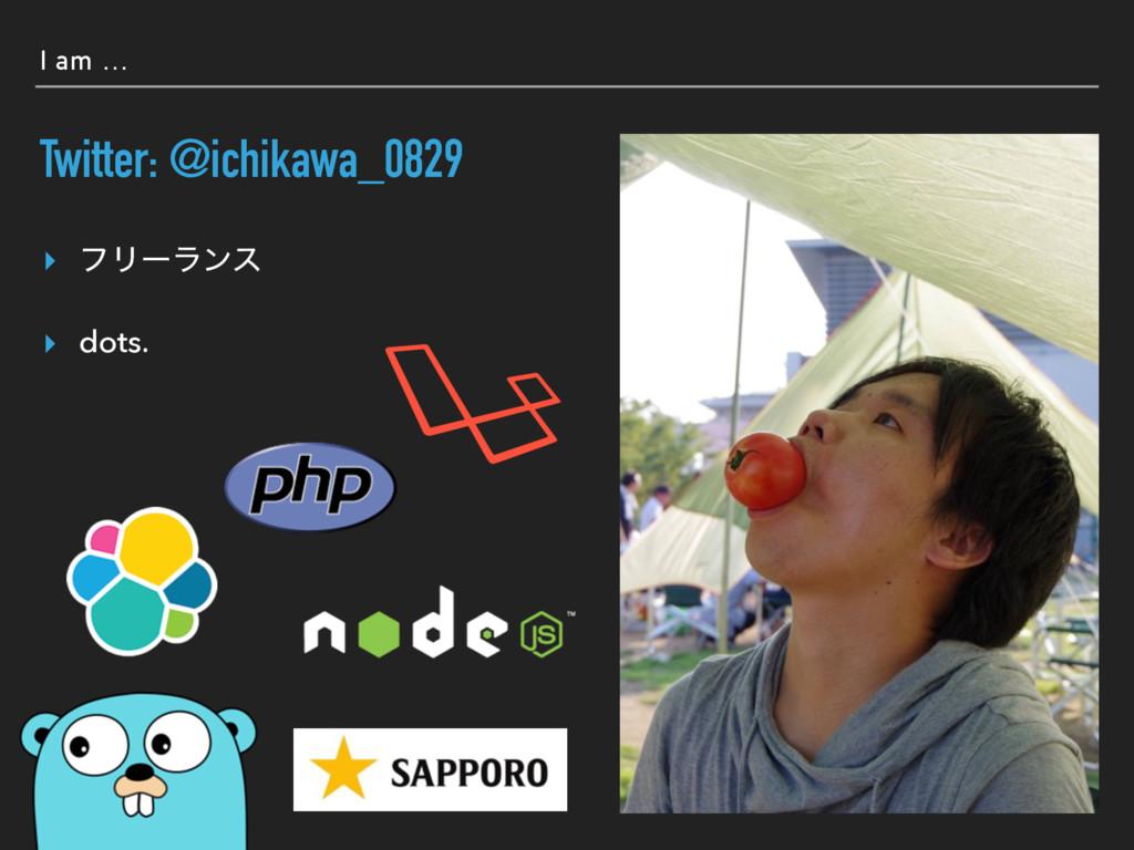 I am … Twitter: @ichikawa_0829 ▸ ϑϦʔϥϯε ▸ dots.