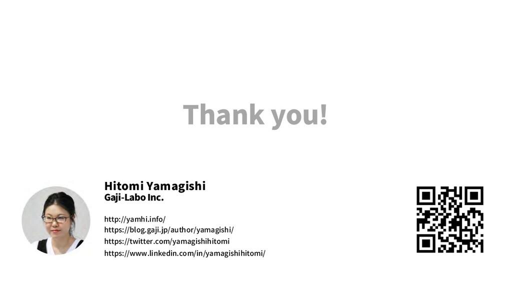 Thank you! Hitomi Yamagishi Gaji-Labo Inc. http...