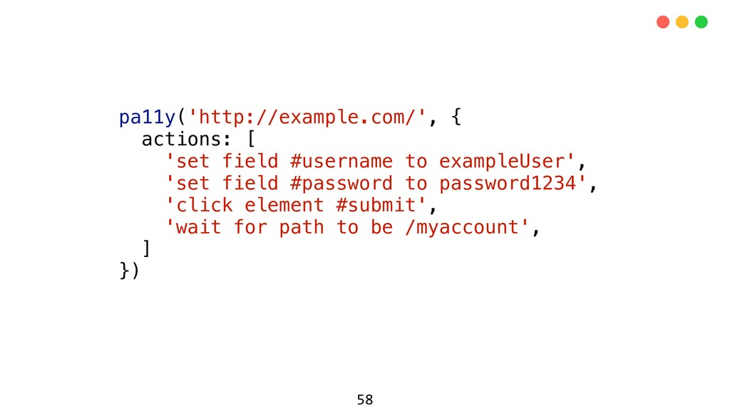 pa11y('http://example.com/', { actions: [ 'set ...