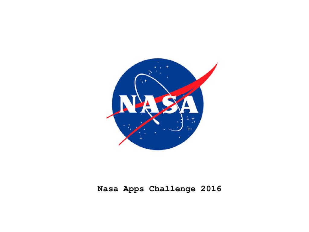 Nasa Apps Challenge 2016