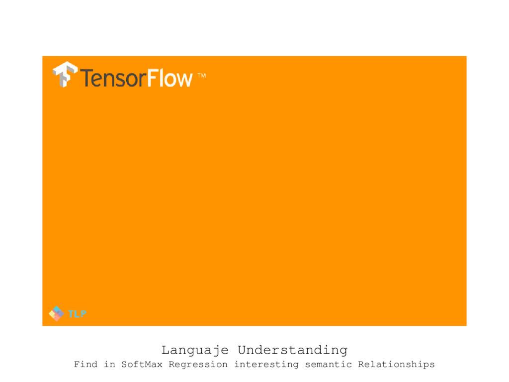 Languaje Understanding Find in SoftMax Regressi...
