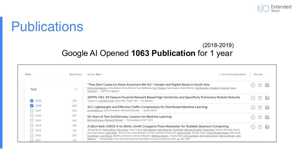 Publications (2018-2019) Google AI Opened 1063 ...