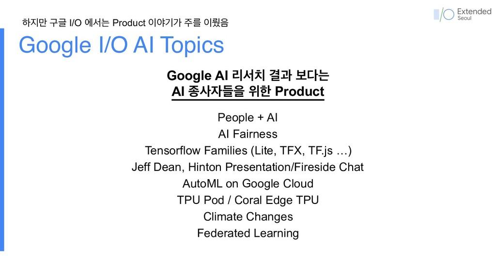 Google I/O AI Topics People + AI AI Fairness Te...