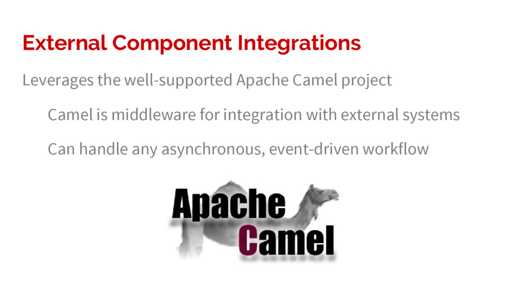 External Component Integrations Leverages the w...