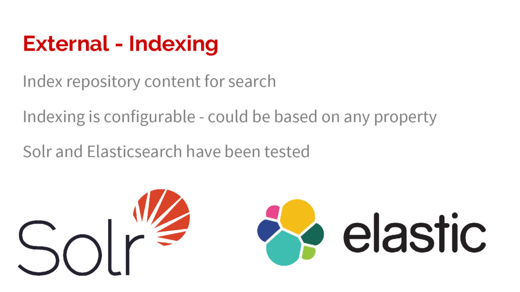 External - Indexing Index repository content fo...