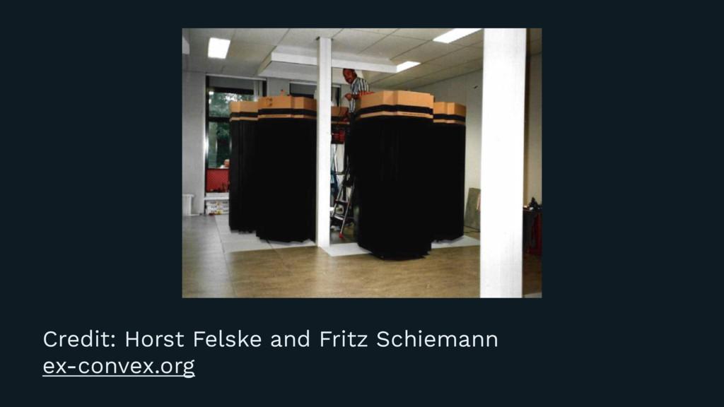 Credit: Horst Felske and Fritz Schiemann ex-con...