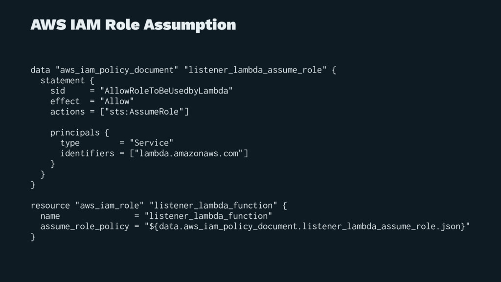 """AWS IAM Role Assumption data """"aws_iam_policy_do..."""