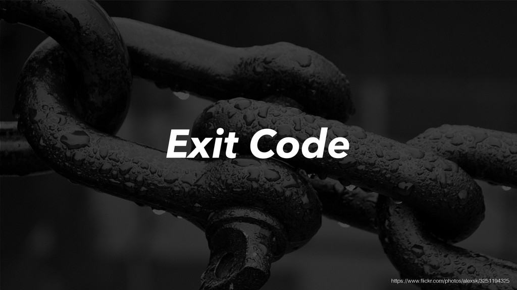 Exit Code https://www.flickr.com/photos/alexsk/3...