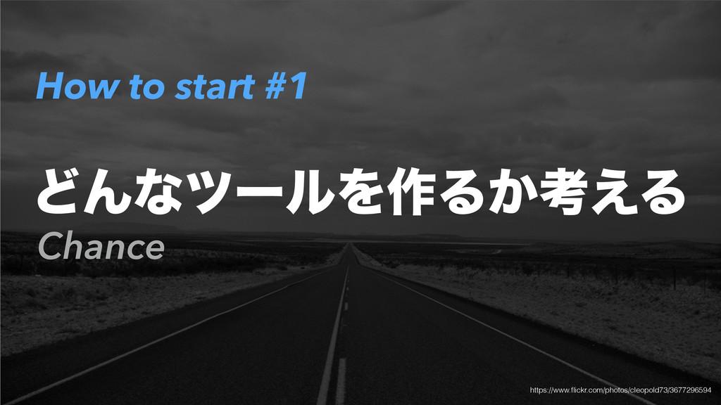 How to start #1 Chance ͲΜͳπʔϧΛ࡞Δ͔ߟ͑Δ https://ww...