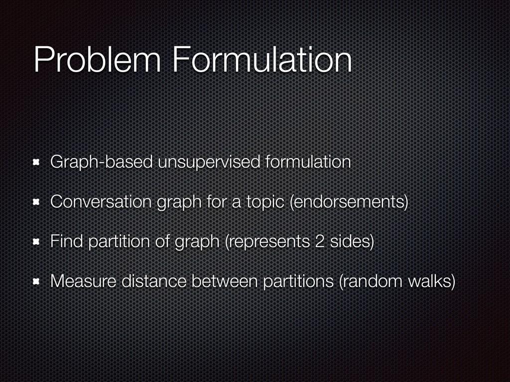 Problem Formulation Graph-based unsupervised fo...