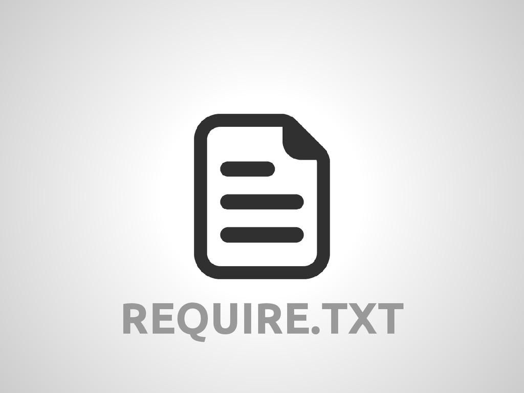 REQUIRE.TXT