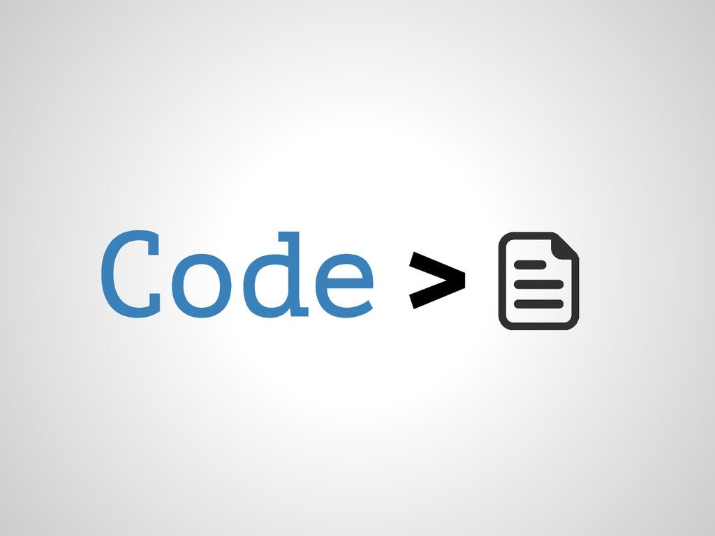 Code >