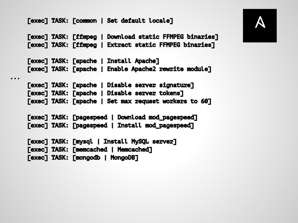 [exec] TASK: [common | Set default locale] [exe...