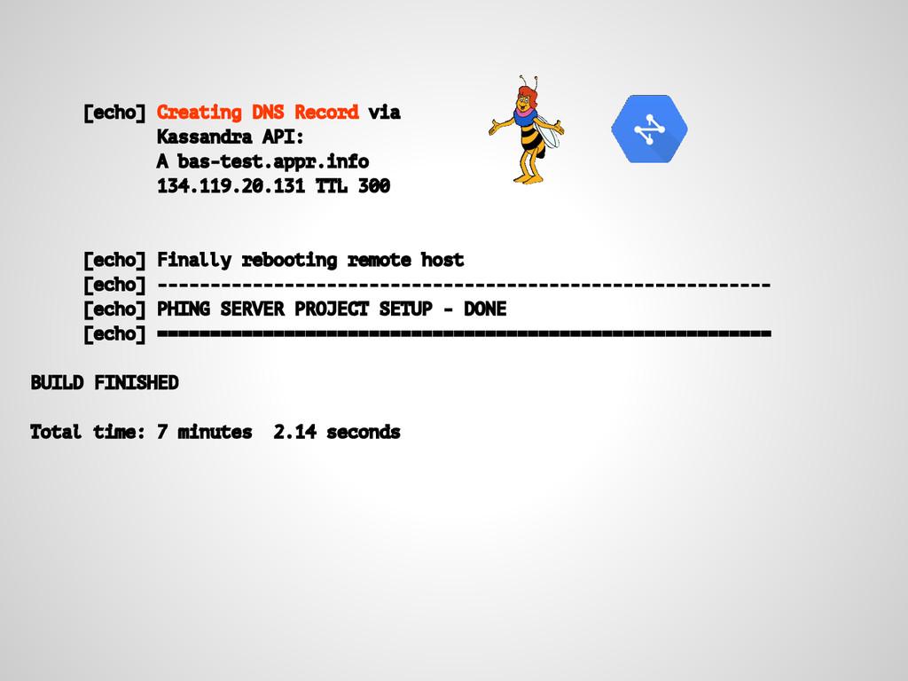 [echo] Creating DNS Record via Kassandra API: A...