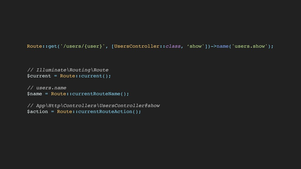 Route::get('/users/{user}', [UsersController::c...