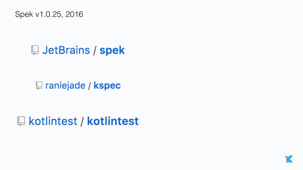 Spek v1.0.25, 2016