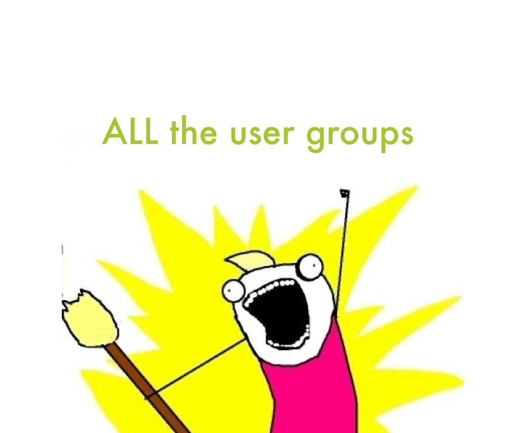 ALL the user groups
