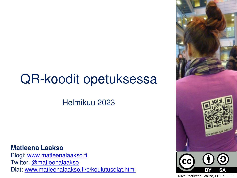 QR-koodit opetuksessa Kesäkuu 2021 Matleena Laa...