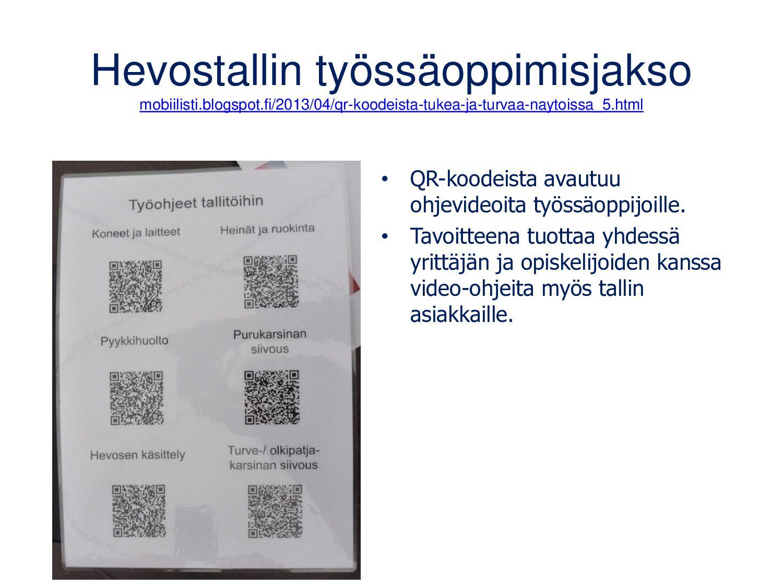QR-koodit tekniikan alalla • Käyttö-, asennus- ...