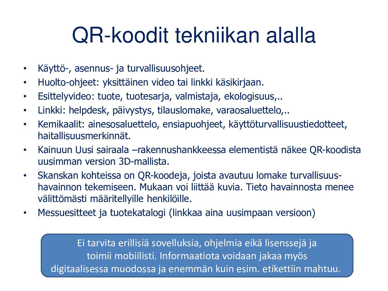Teknologia liikunnanopetuksessa Julkaisuissa QR...