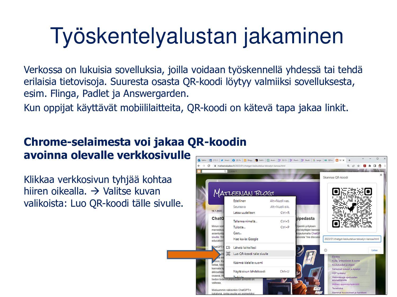 QR-koodit luetaan yleensä mobiililaitteilla Mon...